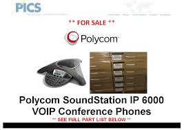 Polycom SoundStation IP 6000 VOIP Conference Phones For Sale ... Cisco Voip Conference Phones Yealink Cp920 Ip Phone With Bluetooth Wifi Poe Vcs754 Sip Yeastar Mypbx S50 Pbx New Cp7937g Unified Station Phone Ebay Mission Machines Z75 System 6 Vtech Nthonet Inc Dls Hosted Telephony Your Way Amazoncom Polycom Cx3000 For Microsoft Lync Shoretel Srephone 8000 Cp960 Wireless Microphone Pairing Via Aya 4690 Speaker 2306682001