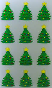 Decorated Christmas Tree Icing Decorations