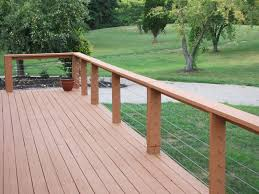 Rail Option With Wire... Cheapest   Deck Design   Pinterest ... Best 25 Deck Railings Ideas On Pinterest Outdoor Stairs 7 Best Images Cable Railing Decking And Fiberon Com Railing Gate 29 Cottage Deck Banister Cap Near The House Banquette Diy Wood Ideas Doherty Durability Of Fencing Beautiful Rail For And Indoors 126 Dock Stairs 21 Metal Rustic Title Rustic Brown Wood Decks 9