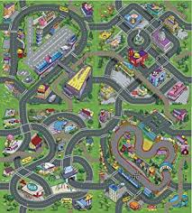tapis de jeux voitures tapis de jeu pour enfants circuit de voitures dans la ville 140 x