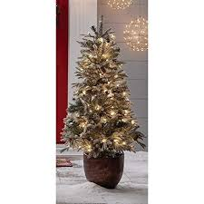 Members Mark Artificial Christmas 45 LED Topiary Tree Fiberglass Pot