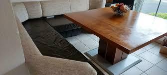 moderne eckbank echtleder mit echtholztisch esstisch