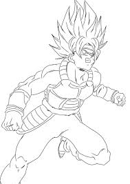 Dragon Ball Z Coloring Pages Goku Super Saiyan Best Printable For Your Free Colouring Kai