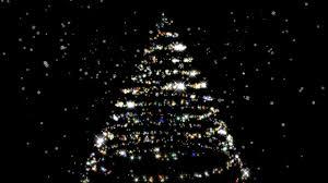 Sparkling Christmas Tree On Black Background HD