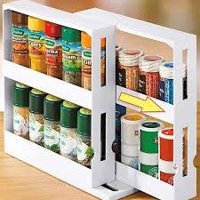 küche gewürz organizer rack multi funktion rotierenden lagerung regal rutsche küche schrank schrank veranstalter küche storage rack