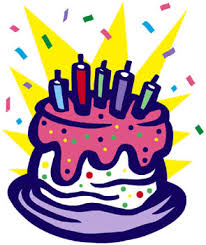 Purple birthday cake clipart