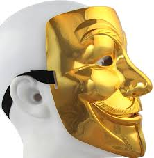 Halloween Purge 2 Mask by V For Vendetta Mask Cool Halloween Mask Gold Plating Mask