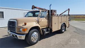 100 Service Truck With Crane For Sale 1998 FORD F800 In Stockton California Papercom