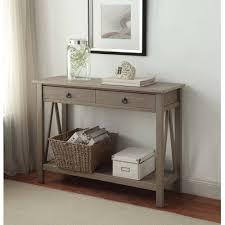 Cheap Sofa Table Walmart by Linon Titian Console Table Rustic Gray Walmart Com