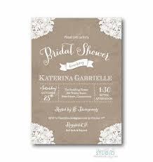 Vintage Lace Rustic Bridal Shower Invitation