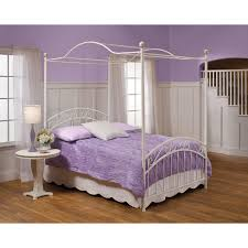 Twin Metal Canopy Bed Pewter With Curtains by Fashion Bed Group Sylvania Canopy Bed Hayneedle