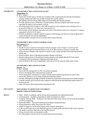 Download Government Relations Resume Sample As Image File