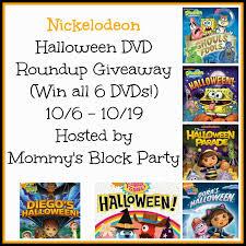 Spongebob Halloween Dvd Episodes by Mommy U0027s Block Party Nickelodeon Halloween Dvd Roundup Giveaway