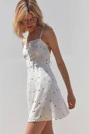 capulet cerise button down cherry print mini dress urban outfitters