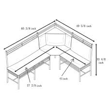 Corner Bench Kitchen Table Set by Amazon Com Breakfast Nook Black Family Diner 3 Piece Corner