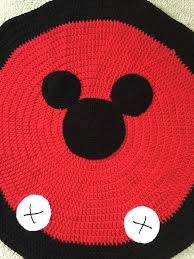 Crochet Mickey Mouse Rug by KiddoCreation on Etsy