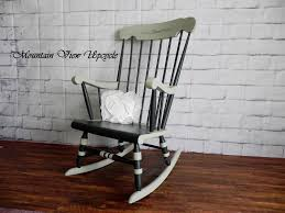 Nursery Rocker, Antique Vintage Rocking Chair, Stencil Topopgraphy, Home  Sweet Home, Shabby Chic, Country, Hitchcock Windsor Rocker