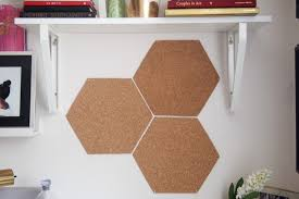 diy a and easy hexagon cork board