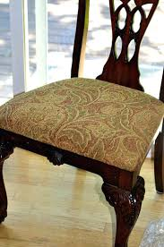 Dining Chair Seat Pads Room Cushions Ravishing Reupholstering My