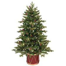 Slim Christmas Trees Prelit shop ge 4 ft pre lit colorado spruce slim artificial christmas