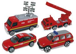 100 Diecast Fire Truck Premier 4pc Set