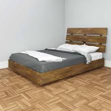 Laguna King Platform Bed With Headboard by Nocce Full Bed With Headboard Truffle Walmart Com