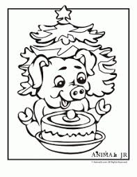 Chinese Animal Zodiac Pig Coloring Page