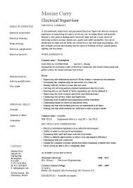 Sample Resume Of Electrician Maintenance With Electrical Supervisor For Prepare Perfect