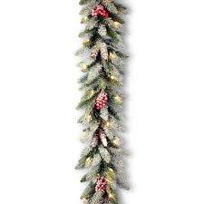 Dunhill Fir Christmas Trees by Snowy Dunhill Fir Garland National Tree Company