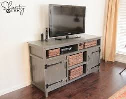 DIY Rustic Media Center From Shanty 2 Chic A Distressed Gray TV Stand In Farmhouse Style