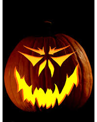 Skull Pumpkin Carving Stencils Free by Decorating Ideas Heavenly Picture Of Scary Lighted Lantern Bat