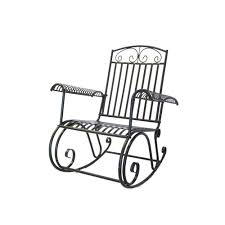100 Rocking Chair Wheelchair Courtyard Casual French Quarter Collection Metal Steel Outdoor