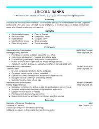 Administrative Coordinator Resume Example