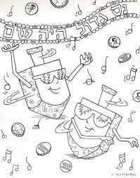 Download Coloring Pages Hanukkah Printable Menorah Page Free