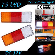 2pcs Car Truck Trailer 75 LED Rear Tail Light Brake Parking Turn ... 2 Led 4 Round Truck Trailer Brake Stop Turn Tail Lights With Red 2007 Ford F150 Upgrades Euro Headlights And Truckin 6 Oval 10 Diode Light Wgrommet Plugpigtail Amazoncom Toyota Pick Up 41988 Lens Lenses Signal Tailgate 196772 Gm Billet Digitails Close Of Tail Lights On A Fire Truck Stock Photo 3956538 Alamy New 2x Led Indicator 24v Waterproof Spyder 042012 Chevy Colorado Hilux Pickup 4x2 4x4 89 95 Clear Red 42008 Recon Smoked 264178bk W Builtin Flange 512