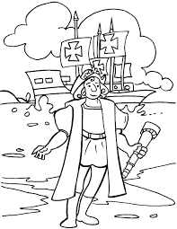 Christopher Columbus Day Coloring Page Download Free