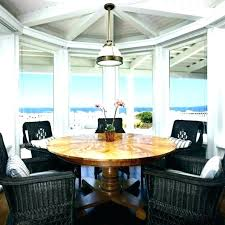 Coastal Round Dining Table Beach Inspired Room Kitchen