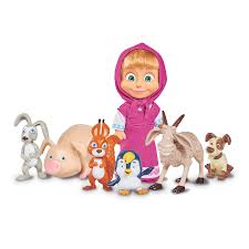 Masha And Her Animal Friends Figures The Entertainer