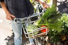 Go by Bike w beautiful new basket rack & 650b fenders from