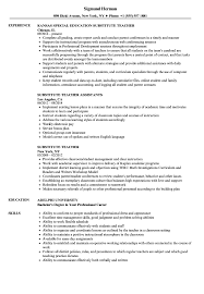 Download Substitute Teacher Resume Sample As Image File