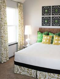 Whimsical Yellow Green Bedroom With Pier 1 Black Wall Frames