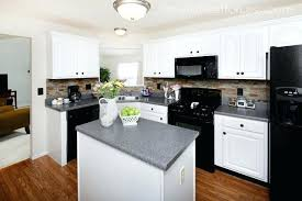 White Cabinets With Appliances Black Kitchen And Photo 4 Off