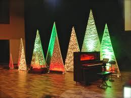 Saran Wrap Xmas Tree by Tree Variety Church Stage Design Ideas