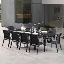 Awesome Salon De Jardin Hesperide Azua Noir Contemporary Awesome Salon De Jardin Aluminium Noir Ideas Amazing House Design