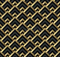 Art Deco Design Pattern Abstract Background