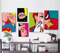 100 Pop Art Bedroom US 359 10 OFFpop Art Secret Lives Super Heros Greg Guillemin Superhero Private Life Modern Minimalist Canvas Painting Bedroom Decoration Artin