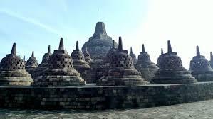 Borobudur At Central Java Indonesia