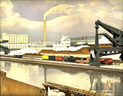 This Sharp Colorful And Serene Precisionist Oil On Canvas View Of The Ford Plant At