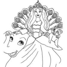 Beautiful Barbie Coloring Pictures Of Pages