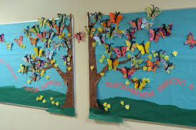 Butterfly Blossoms Welcoming Spring Bulletin Board Idea